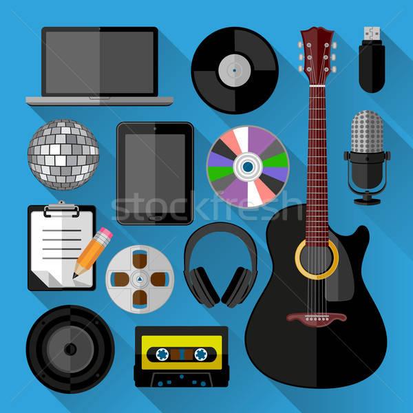 Music icons bundle Stock photo © AbsentA