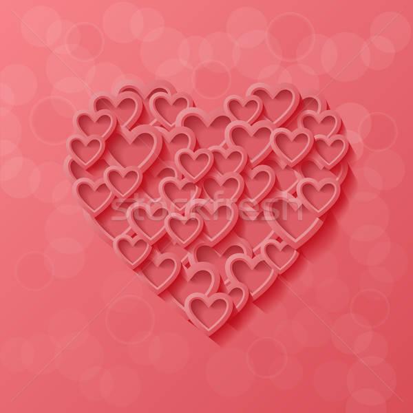 Abstract stile moderno amore cuore design sfondo Foto d'archivio © AbsentA