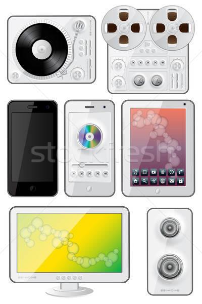 Geïsoleerd gadgets iconen eps 10 telefoon Stockfoto © AbsentA