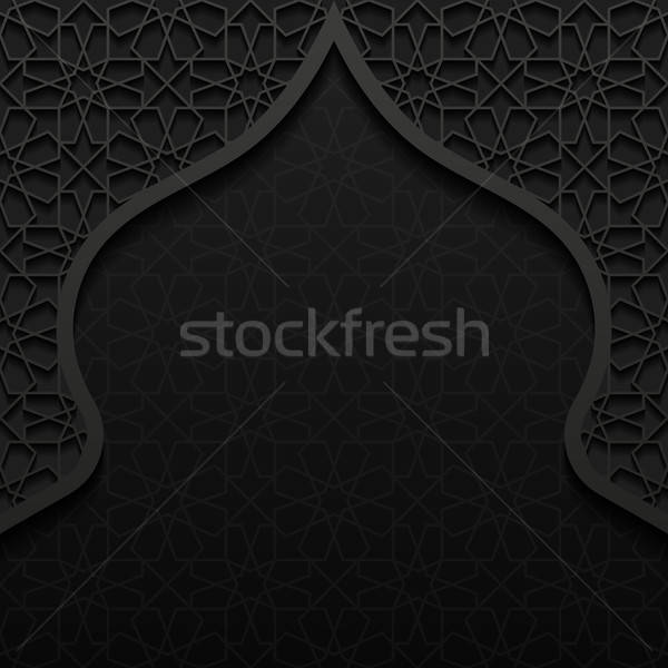 Abstract traditioneel ornament textuur achtergrond zwarte Stockfoto © AbsentA