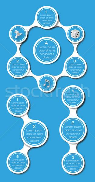 Ui infografía web elementos diseno oficina Foto stock © AbsentA