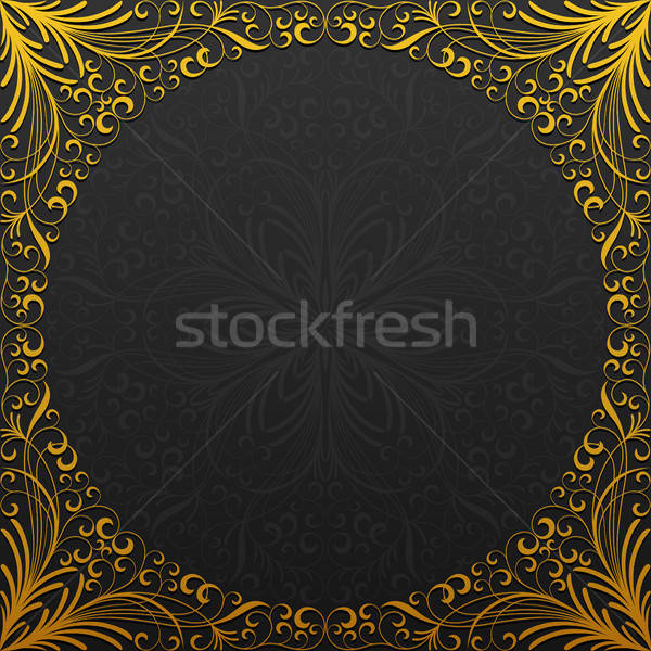 Cadre traditionnel floral ornement résumé nature Photo stock © AbsentA