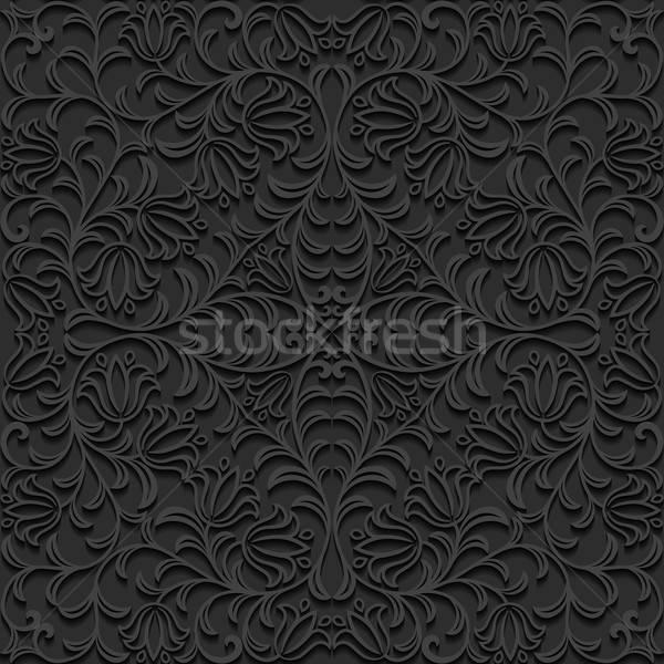 Naadloos patroon ontwerp achtergrond zwarte Stockfoto © AbsentA