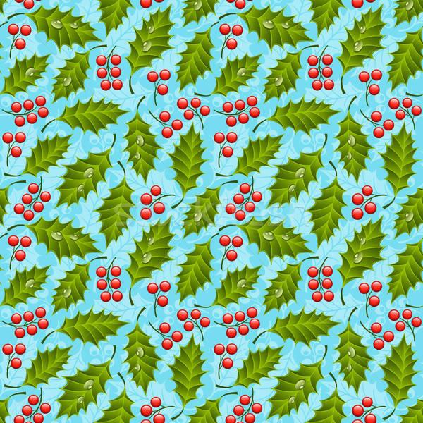 Naadloos patroon natuur blad achtergrond Stockfoto © AbsentA