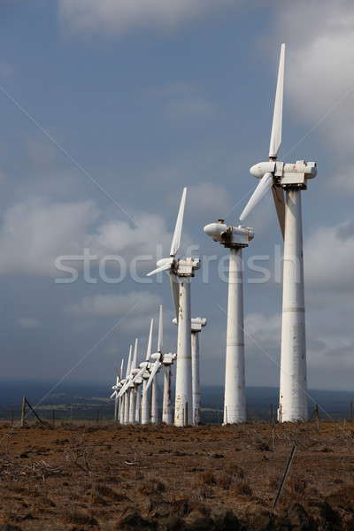 Rusty, run-down wind power station Stock photo © AchimHB