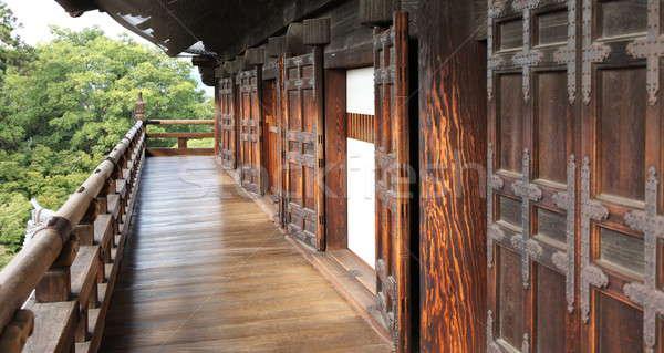 Osaka kale eski ahşap kapılar yapı Stok fotoğraf © AchimHB