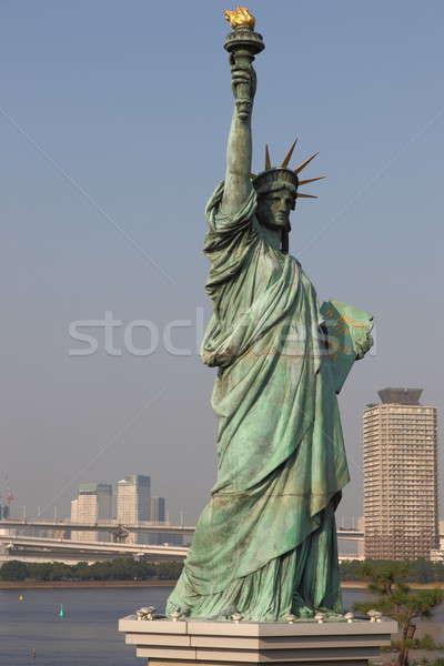 статуя свободы Токио Нью-Йорк Франция небе Сток-фото © AchimHB