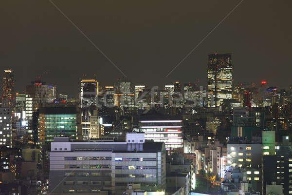 Токио ночь Небоскребы высокий бизнеса Сток-фото © AchimHB