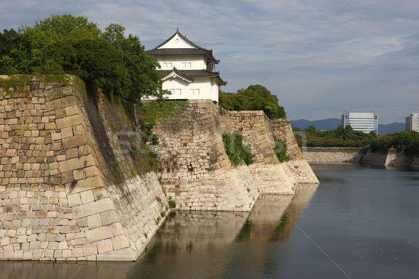 Osaka kale küçük yansımalar su Stok fotoğraf © AchimHB