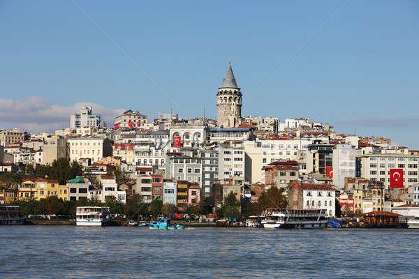 башни Стамбуле старые зданий небе морем Сток-фото © AchimHB