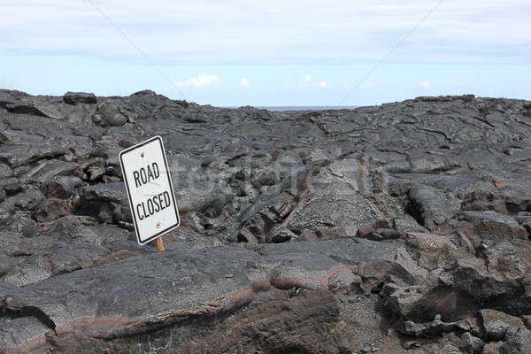 дороги закрыто знак лава области большой Сток-фото © AchimHB