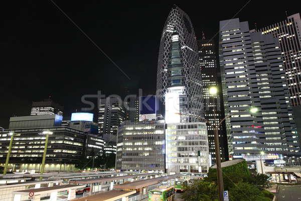 東京 1泊 通り バス 駅 高層ビル ストックフォト © AchimHB