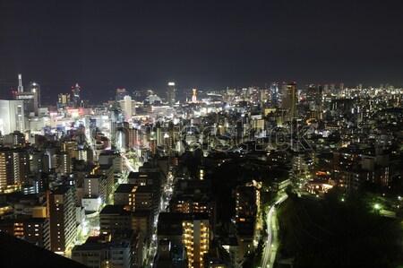 ночному городу город центра ночь Сток-фото © AchimHB