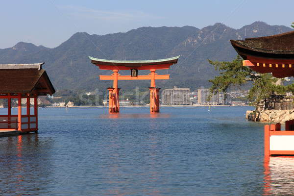 Torii at high tide Stock photo © AchimHB