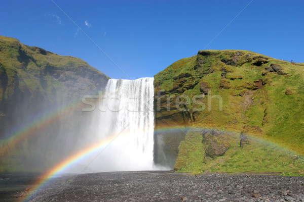 водопада один многие водопад Исландия воды Сток-фото © AchimHB