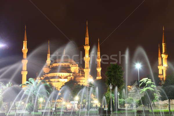 синий мечети Стамбуле за фонтан Сток-фото © AchimHB