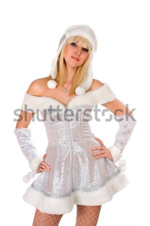 Stock photo: Portrait of a sexy smiling Snow Maiden