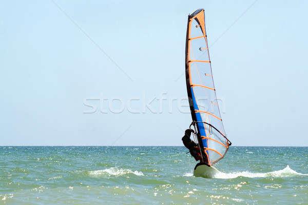 windsurfer on the sea surface Stock photo © acidgrey