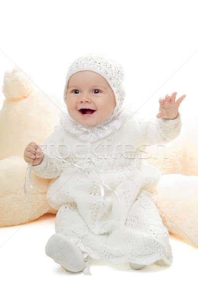 Playful baby girl Stock photo © acidgrey