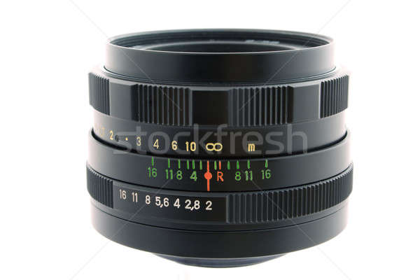 Objective of a photo camera on a white background. isolated 1 Stock photo © acidgrey