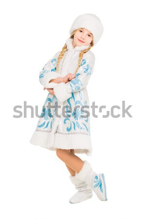 Nice brunette in a snow maiden costume Stock photo © acidgrey