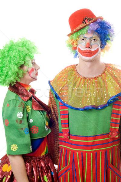 A couple of serious clowns Stock photo © acidgrey