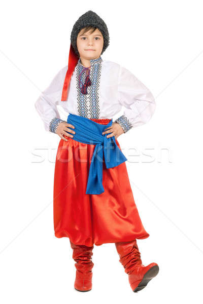 Boy in the Ukrainian national costume Stock photo © acidgrey
