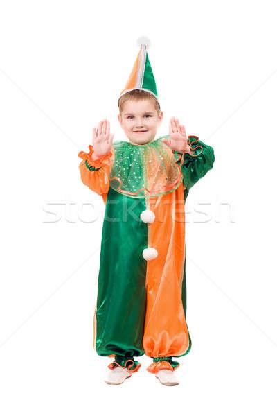 Boy dressed as harlequin Stock photo © acidgrey
