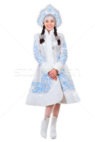 Stock photo: Nice snow maiden