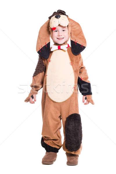 Juguetón pequeño nino como perro Foto stock © acidgrey