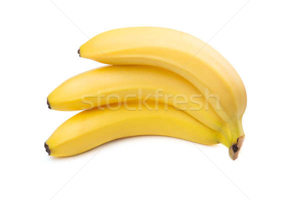 Foto stock: Três · amarelo · bananas · branco · saúde