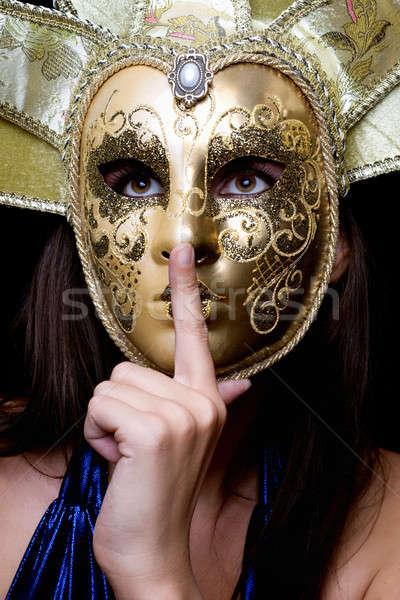 Venetian masca izolat femeie faţă ochi Imagine de stoc © acidgrey
