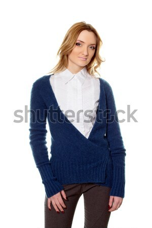 young woman in pants and pullover Stock photo © acidgrey