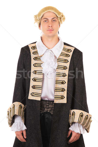 Man in medieval costume Stock photo © acidgrey