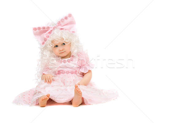 Baby girl in a pink dress. Isolated Stock photo © acidgrey
