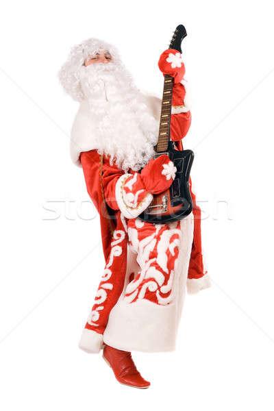 Ded Moroz plays on broken guitar Stock photo © acidgrey
