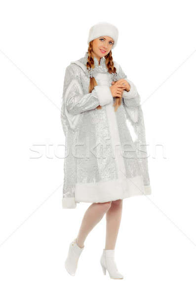 Stock photo: Attractive smiling Snow Maiden