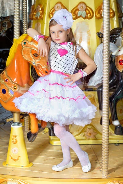 Girl in pink dress Stock photo © acidgrey