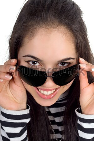 Pretty smiling woman Stock photo © acidgrey