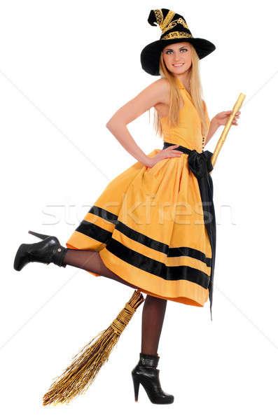 Сток-фото: костюм · ведьмой · изолированный