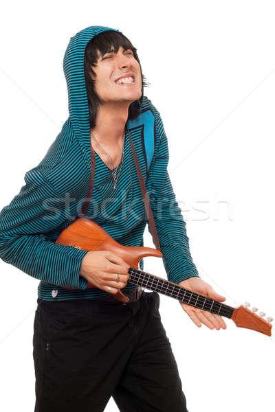 ストックフォト: 表現の · 若い男 · ギター · 音楽 · 芸術