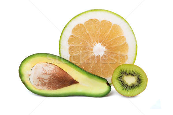 Avocado, sweetie and kiwi Stock photo © acidgrey