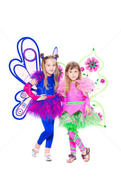 Two beautiful little girls Stock photo © acidgrey