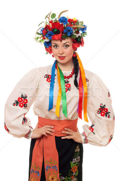 Young woman in the Ukrainian national clothes Stock photo © acidgrey