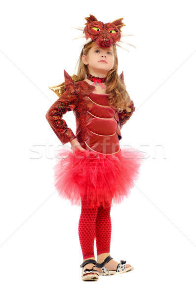 Little girl dressed as a dragon Stock photo © acidgrey