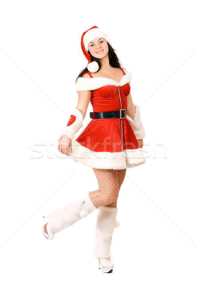 Stock photo: Happy playful Snow Maiden