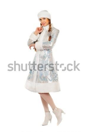Stock photo: Pretty smiling Snow Maiden