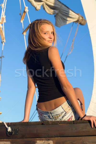 Pretty teen girl Stock photo © acidgrey