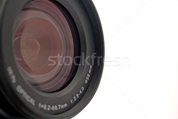 Obiettivo fotocamera digitale bianco isolato vetro Foto d'archivio © acidgrey