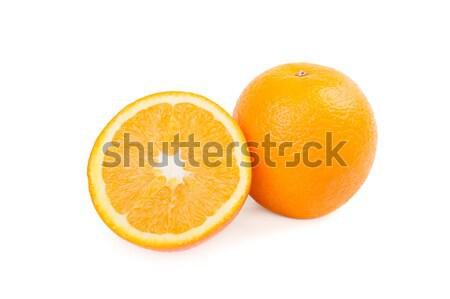 Primer plano dulce naranja aislado blanco agua Foto stock © acidgrey
